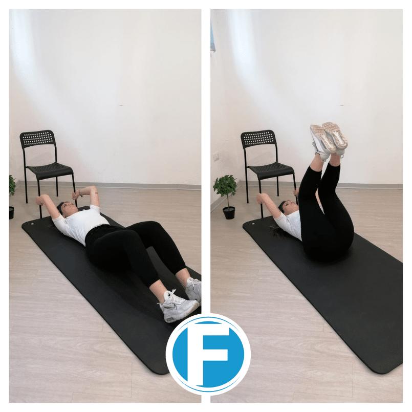 Crunch-inverso Gli esercizi anticellulite